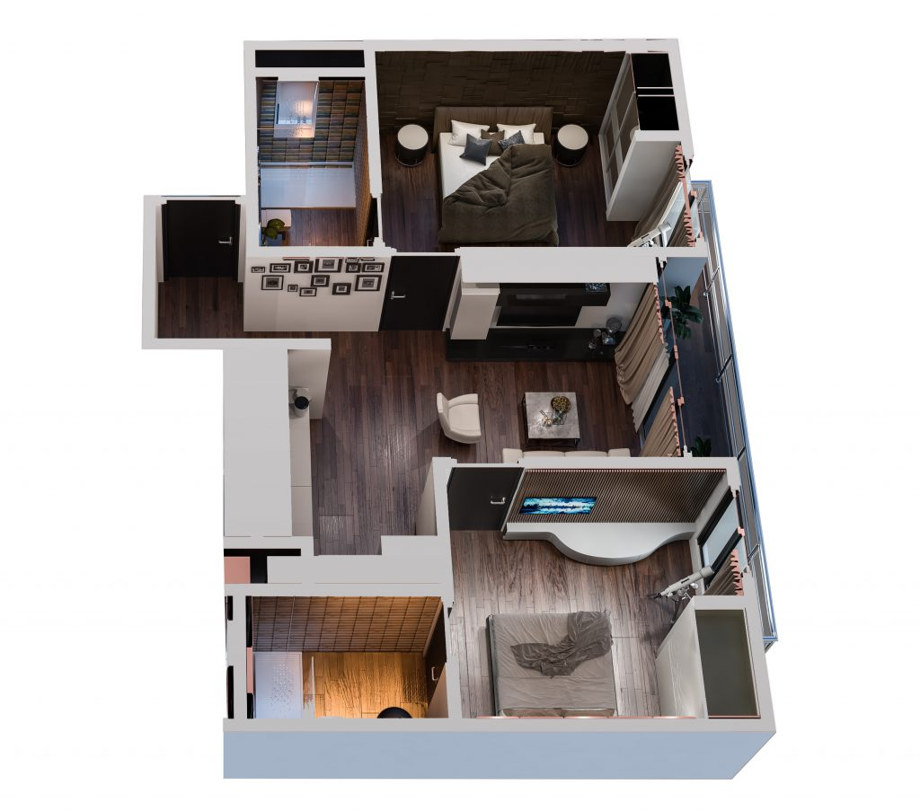 2 Bedrooms Apartment Front